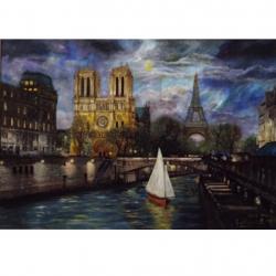 Đêm trăng Paris (Giải thưởng Nghệ thuật Quốc tế 2016) - Tranh Điện Tử