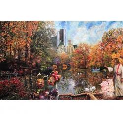 Mùa thu ở Công viên Trung tâm New York 02 - Tranh Điện Tử